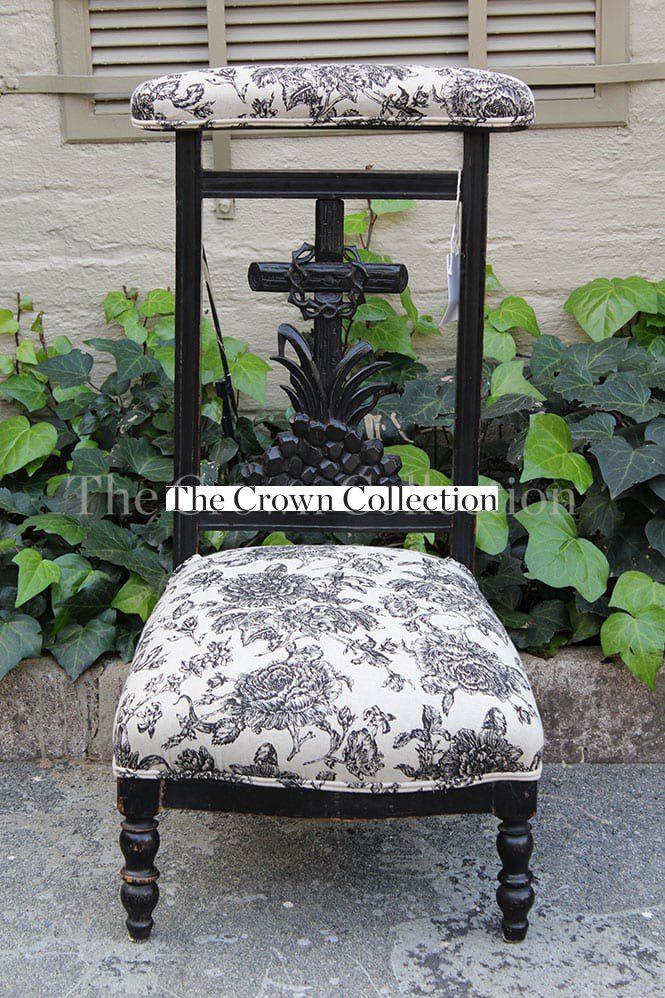 Antique Napoleon III 19th- century French Prayer Chair *Brand new  upholstery* - Antique Napoleon III 19th- Century French Prayer Chair *Brand New