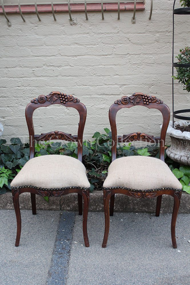 Pair Antique Side Chairs Late 1800s/early 1900s - Pair Antique Side Chairs Late 1800s / Early 1900s *Brand New