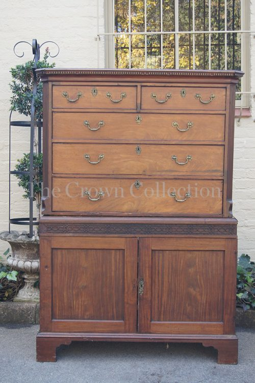 Victorian Mahogany Tall Boy Chest