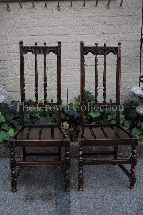 Pair Ercol English Slat Chairs