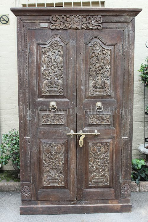 Ornately Carved 2 Door Cabinet  Cabinet