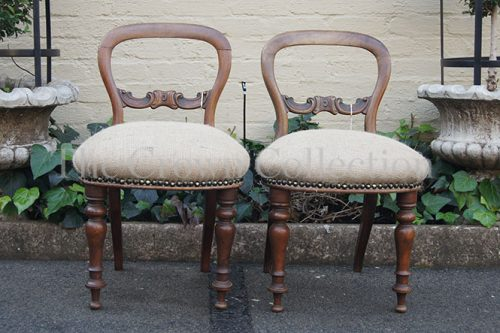 Pair Bustle Back Chairs
