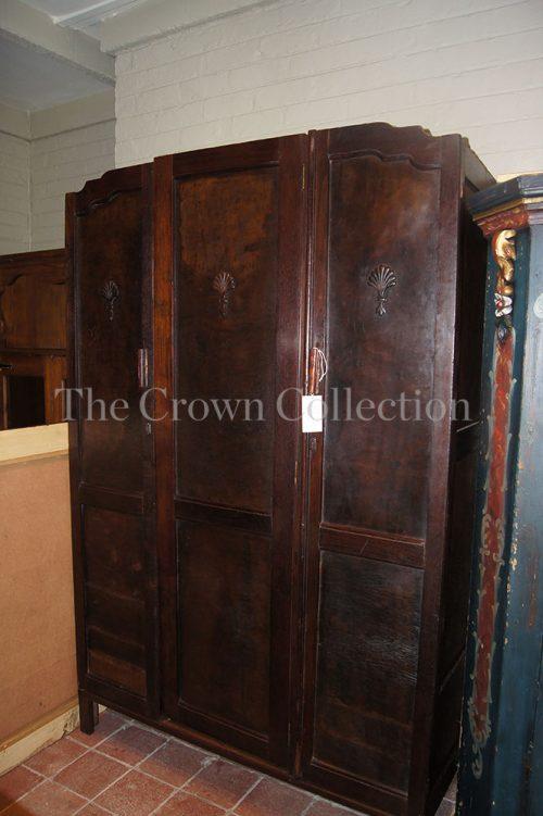Antique 3 Door Imbuia Cupboard