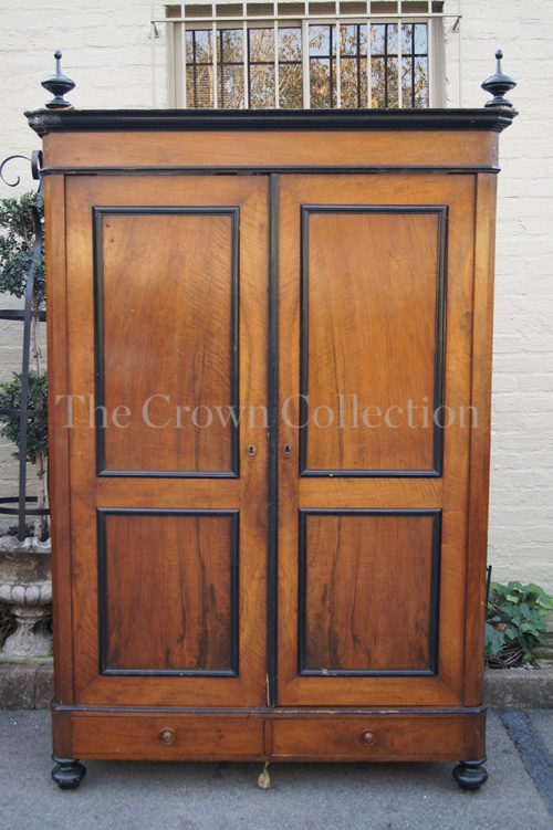 19th Century Walnut & Ebonised Cabinet