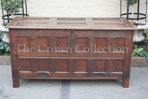 Late 17th Century English Oak Coffer