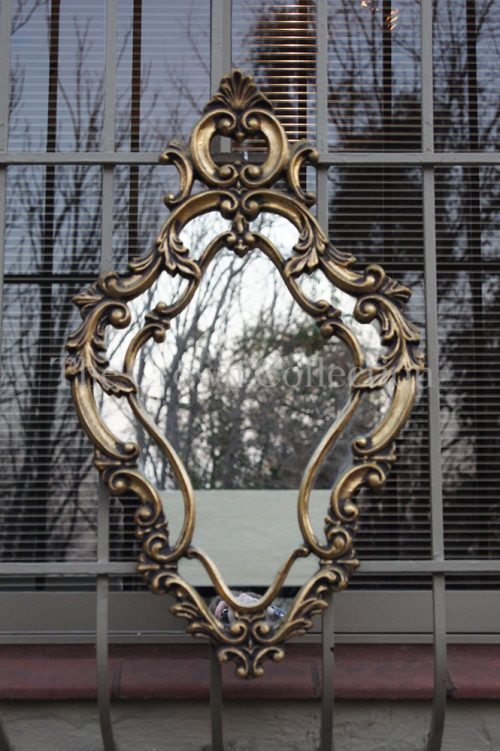 20th Century Gilt Gesso Carved  Mirror ND