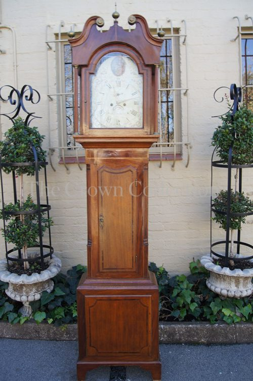 Georgian Oak & Mahogany Longcase Clock
