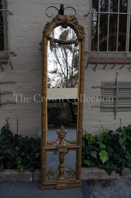 French Style Gilded Mirror with Urn Motive
