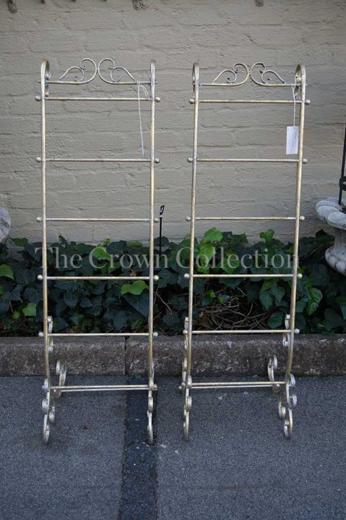 Pair Wrought Iron Towel Stand