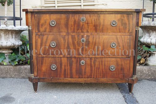 19th Century Continental Flame Mahogany Chest