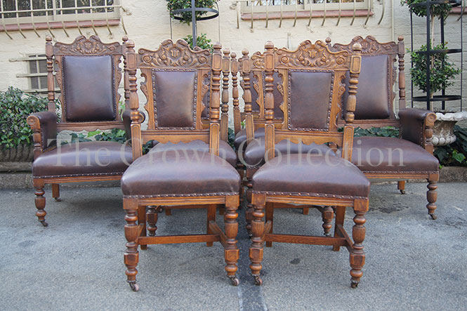 Set of 8 Edwardian Dining Chairs includes 2 Armchairs