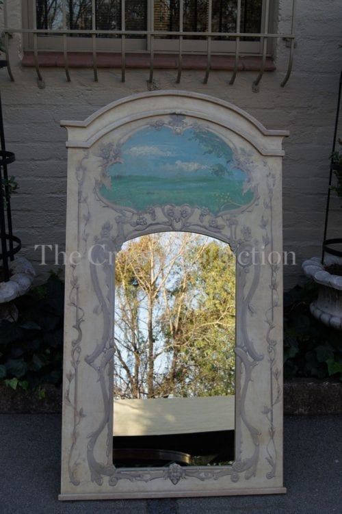 Signed De Lima Hand Painted French Style Mirror