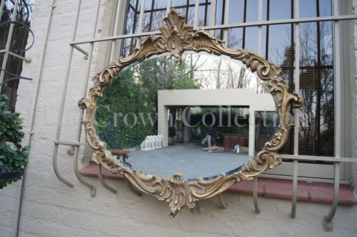 Bevelled Oval Mirror Rococo Frame