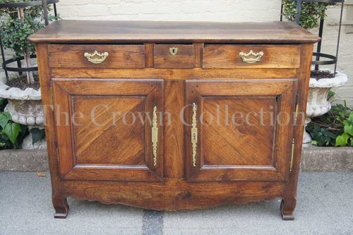 19th Century French Provincial Oak 2 Door Buffet