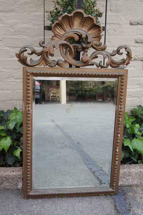Gilt Framed Mirror Scroll Top