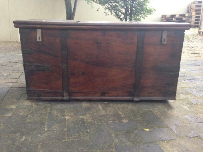 Oak Chest with Iron Handles