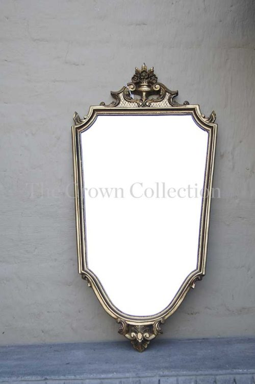 Gilded Shield Shaped Mirror