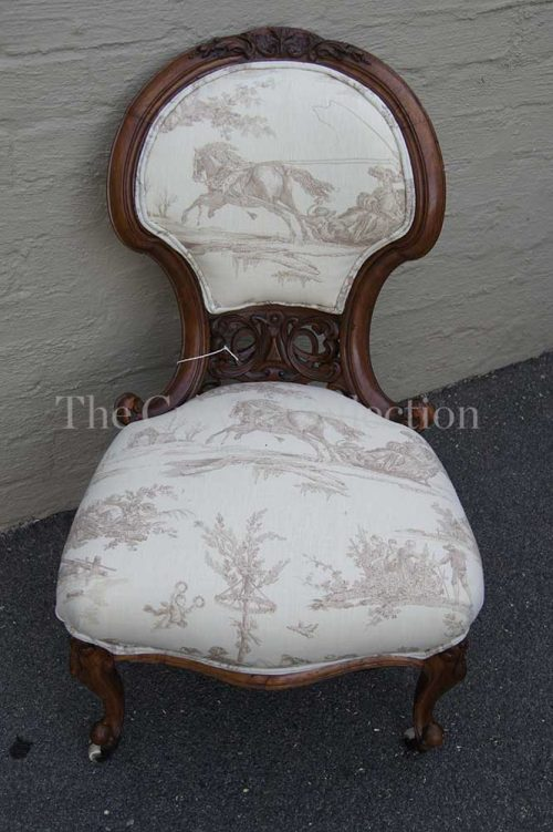 Walnut Victorian Slipper Chair