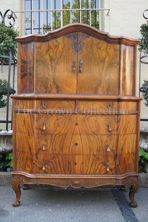 Antique Walnut Drinks Cabinet