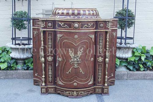 Ornate 20th C French Style Cabinet with Brass Mounts