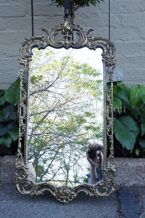 Rococo Style Brass Frame Mirror