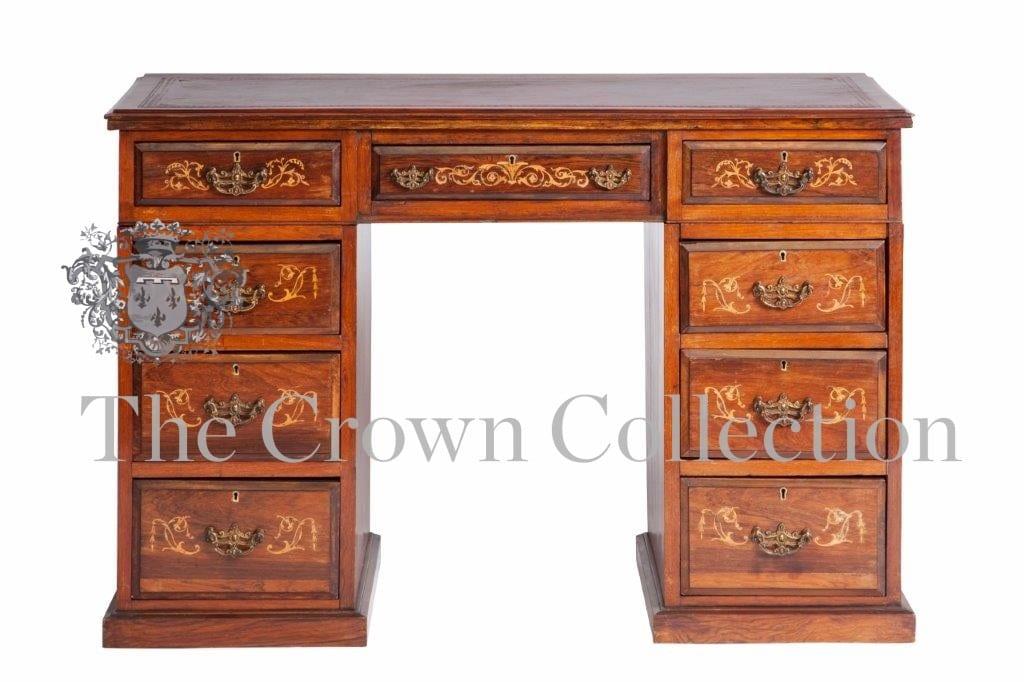 Victorian Mahogany Pedestal Desk circa 1900