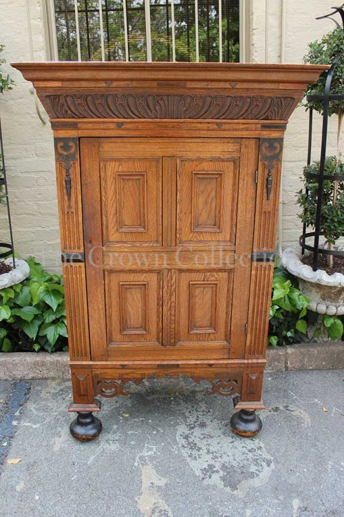 19th Century Dutch Oak Cabinet