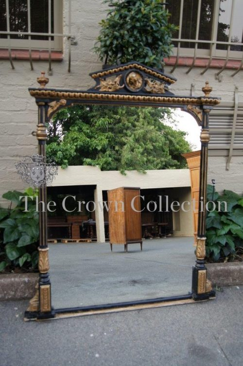 Late 19th Century Aesthetic Movement Ebonised & Parcel Gilt Mirror circa 1890
