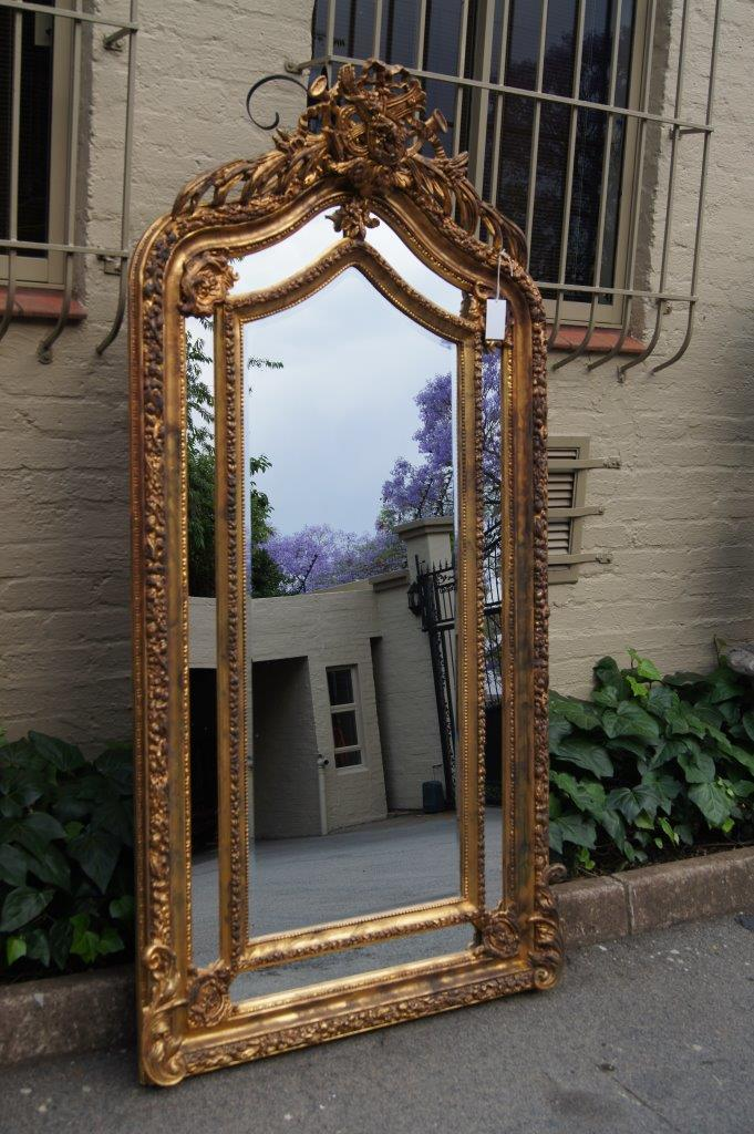 Ornate Carved And Gilded Bevelled Mirror The Crown