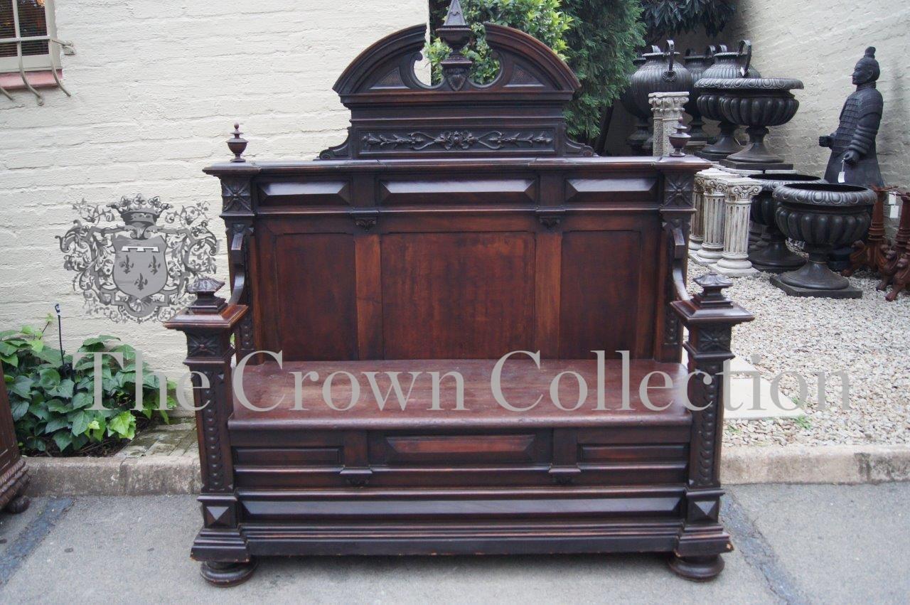 19th century Mahogany Continental Bench