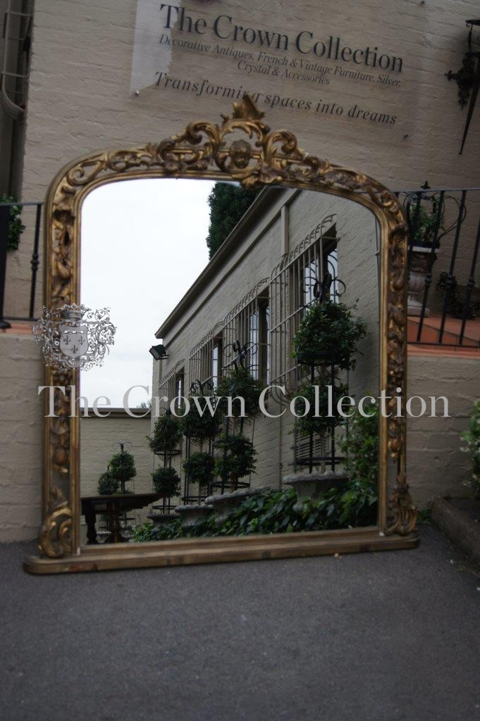19th Century Continental Over Mantle Mirror