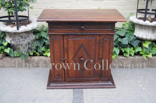 Italian walnut side cupboard