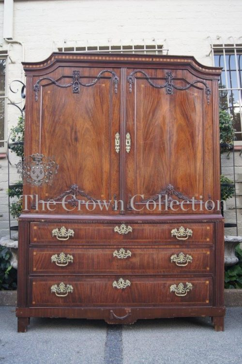 Dutch Mahogany & Satinwood Inlaid Armoire in Neo Classical Taste circa 1790 (ND)