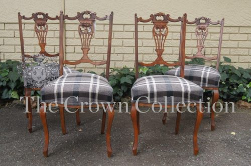 Set of 4 Edwardian Side Chairs
