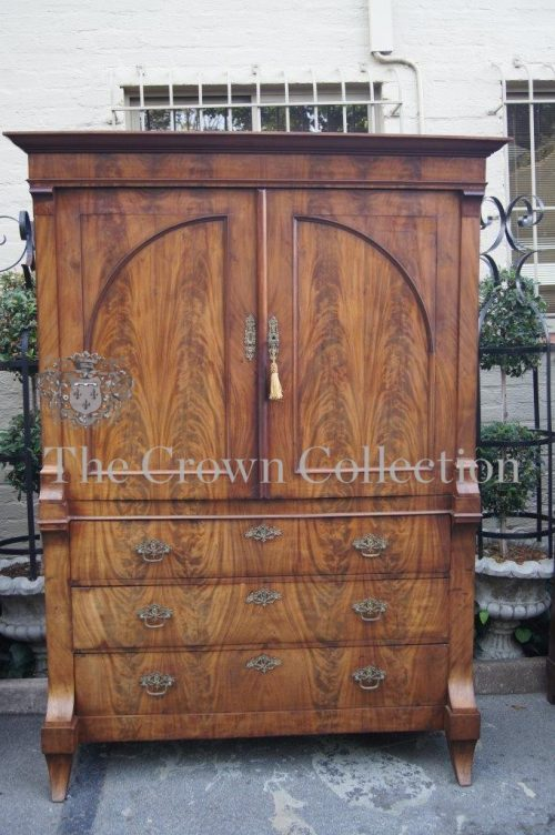 19th Century Flame Mahogany Armoire