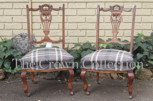 Pair Edwardian Low Chairs