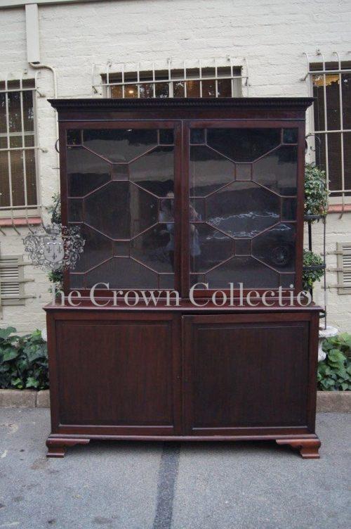 Georgian Mahogany Bookcase Cabinet