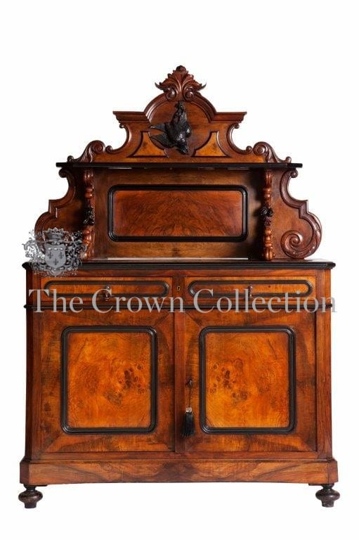 19th Century Northern European Walnut Side Cabinet