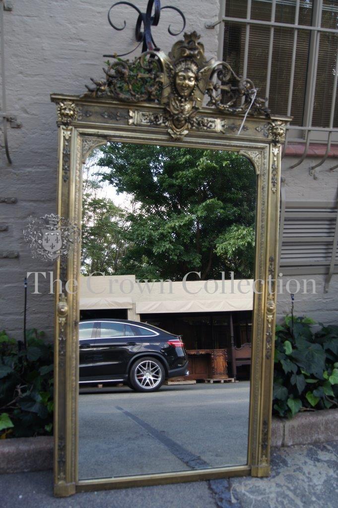 Gilt Framed Rectangular Mirror