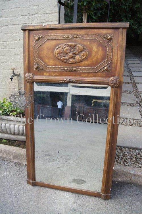 Gilded & Painted Rectangular Bevelled Mirror