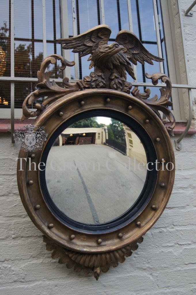 Regency Style Convex Mirror with Eagle Cresting