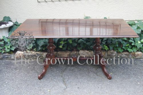 Victorian Style Mahogany Centre Table on Cabriole Legs