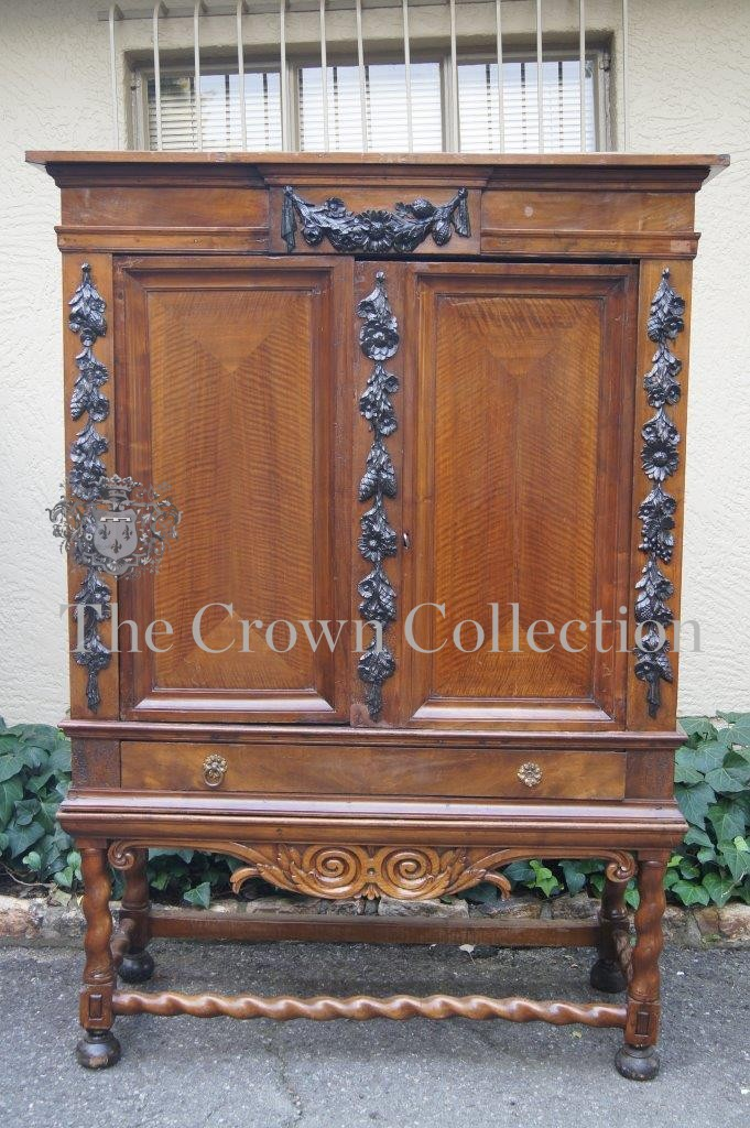 Dutch Colonial 19th Century Cabinet on Stretcher Base - ND