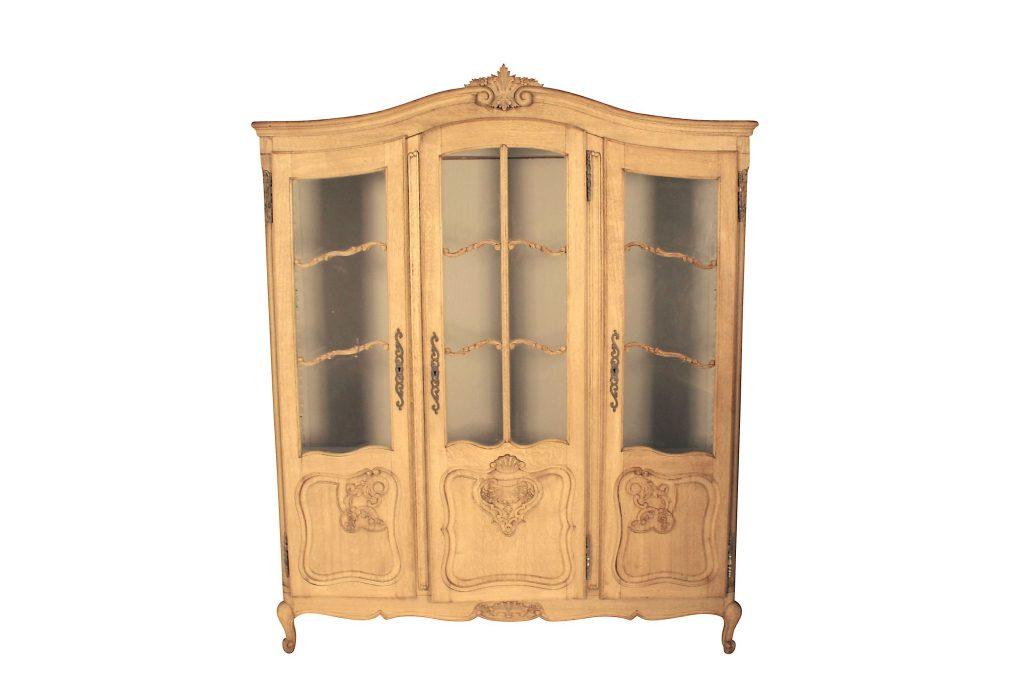 19th Century Bleached Oak 3 Door