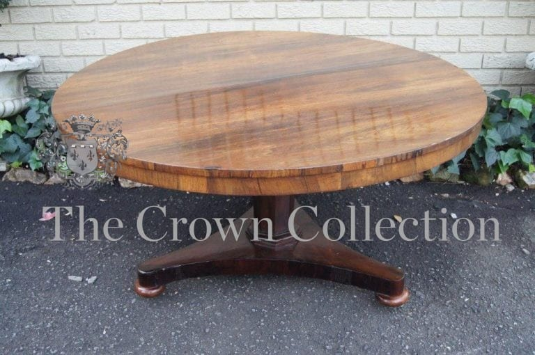 Early 19th Century William IV Rosewood Circular Dining Table