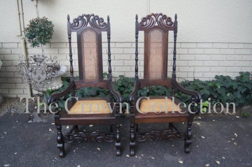 Pair Cape Stinkwood Throne Chairs