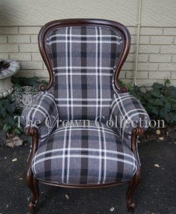 Victorian Mahogany Open Armchair