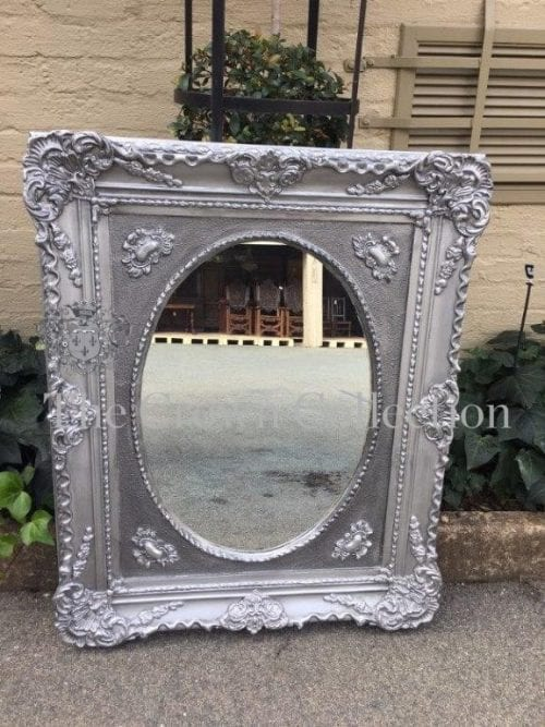 Silver Framed Ornate Mirror