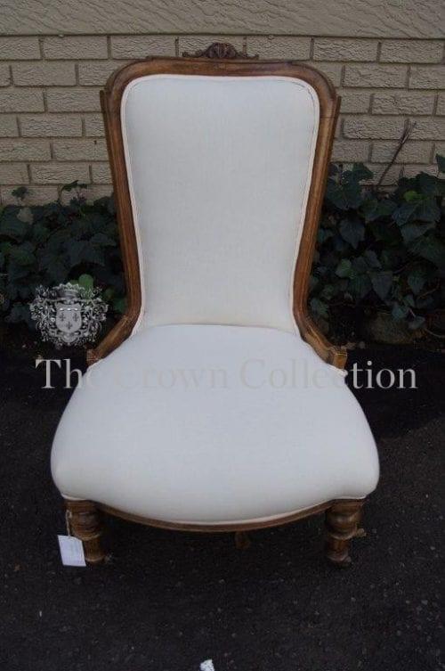 Victorian Walnut Grandmother Chair - ND