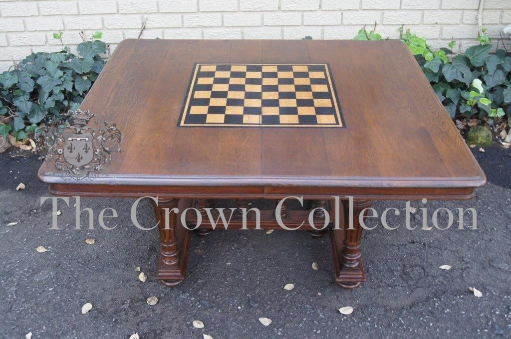 Oak Extension Converted Chess Table